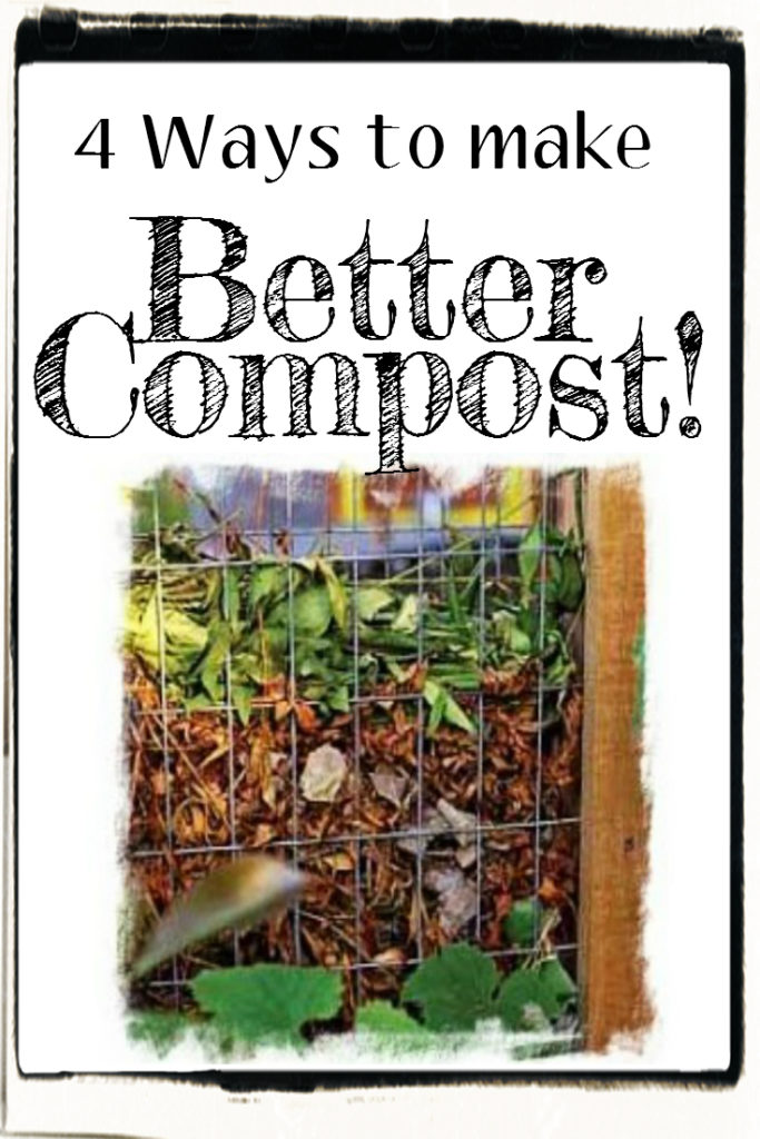 four ways to make better compost