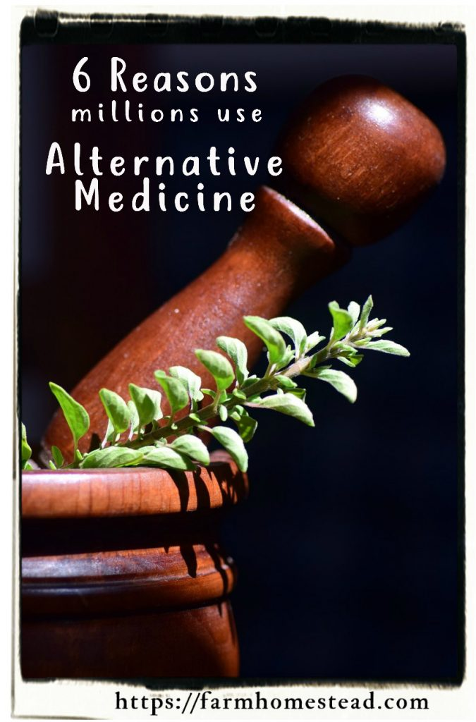 alternative medicine- mortar and marjoram