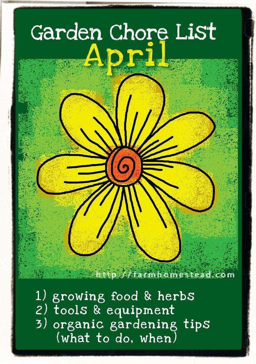 april gardening chores