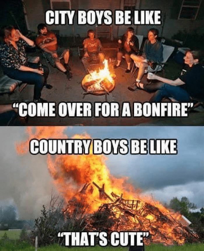 country bonfire