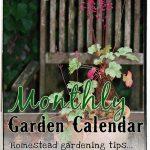 Garden Calendar for September
