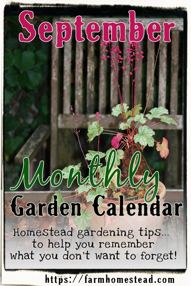 september garden calendar