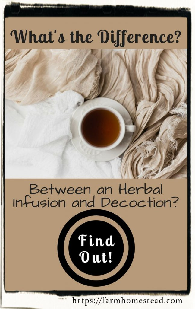 difference between an herbal decoction and infusion