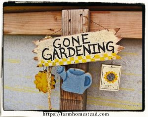 gone gardening