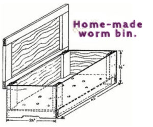 diagram for homemade worm bin