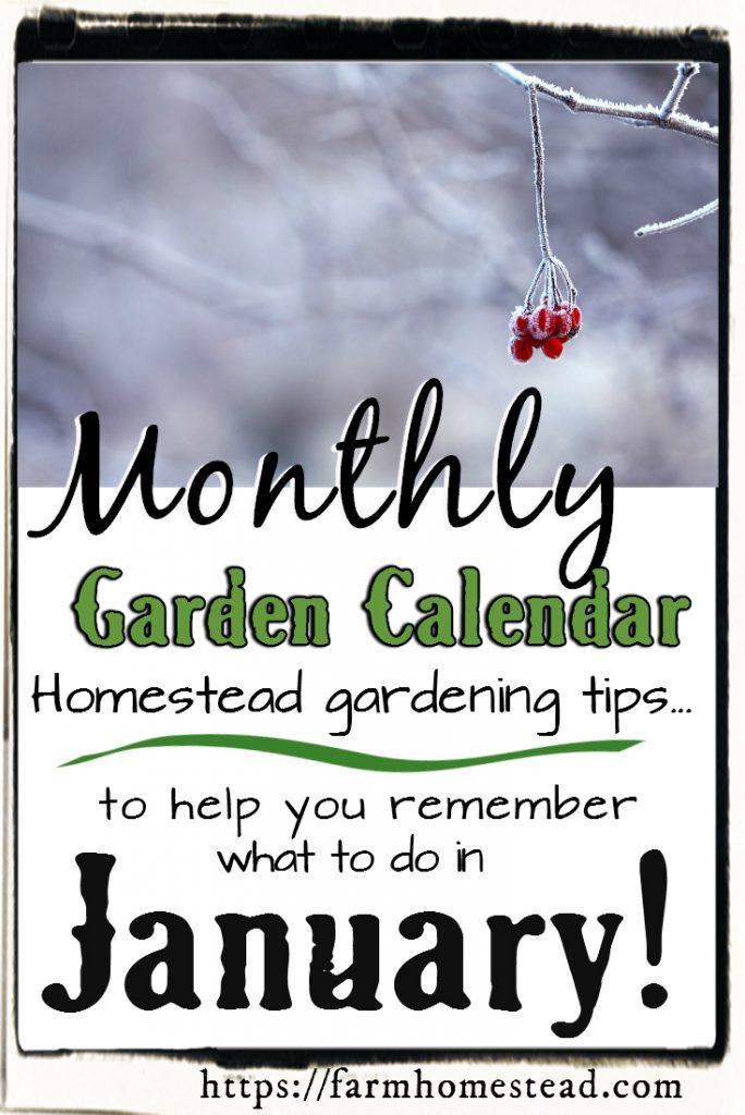 january garden calendar