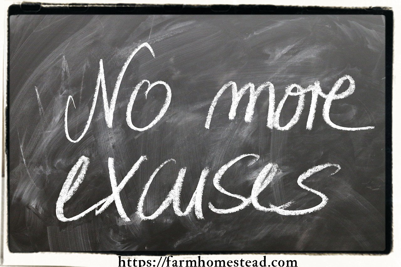 no more excuses for lack of self discipline