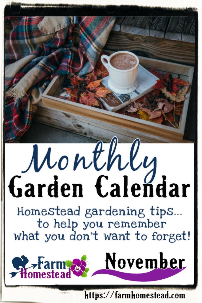 november garden calendar