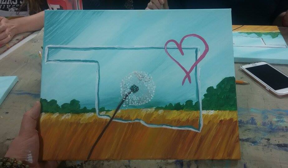 green country painting