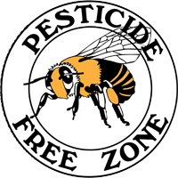 pesticide free honey bee sign