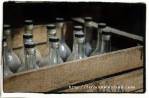 herbal tonics - a crate of bottles